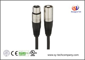 XLR Male to Female Microphone Cable - 25 Feet pictures & photos