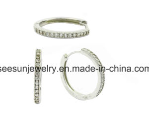925 Silver Huggies Earring pictures & photos