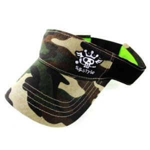 Camouflage Visor Cap with Skull (JRV048) pictures & photos