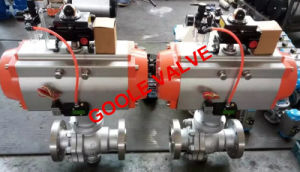 API 6D 2 PCS Pneumatic Trunnion Mounted Ball Valve (GAQ647F) pictures & photos