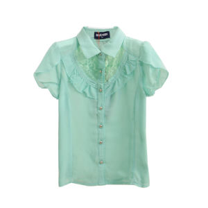 Kids Fashion Casual Chiffon Short Sleeve Shirt for Summer pictures & photos
