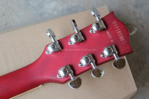 Hanhai Music / Semi-Hollow Transparent Red Electric Guitar (ES-335) pictures & photos