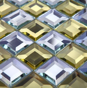 Mixed Color Diamond Glass Mosaic Tile (HD31) pictures & photos