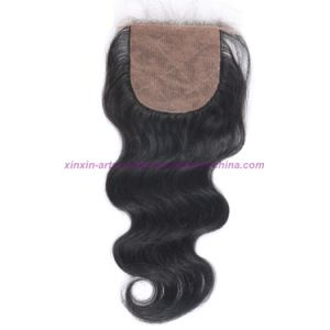 8A Virgin Human Hair Silk Base Closure Unprocessed Brazilian Hair Body Wave Closures pictures & photos