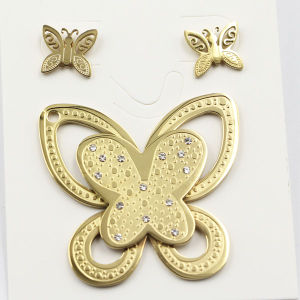 High Quality Stainless Steel Butterfly Earring Fashion Jewelry pictures & photos