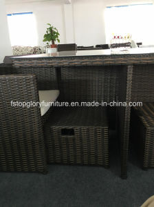 Rattan Garden Dining Table and Chair Space Saving Cube Dining Sets (TG-8061) pictures & photos