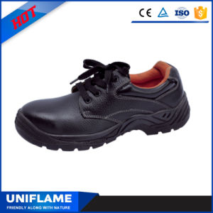 Black Leather Steel Toe Cap Bottom Light Safety Shoes Ufb008 pictures & photos
