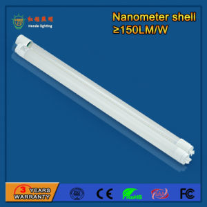 Nanometer 130-160lm/W 9W LED T8 Tube for Office Buildings pictures & photos