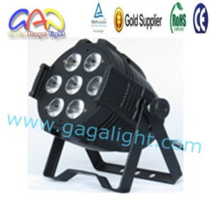 7X15W RGBWA 5 in 1 LED DJ PAR Light PAR64 DMX512 Stage Show Party Lighting pictures & photos