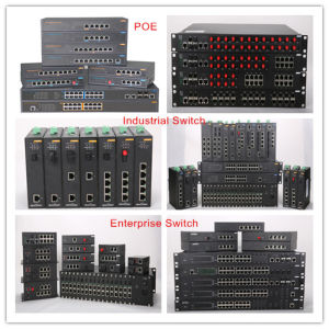 28 Ports Rack Mounted SFP Fiber Industrial Ethernet Network Switch pictures & photos