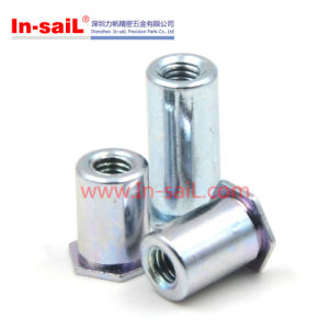White Blue Galvanized Hexagon Self Clinching M2 Standoff Nuts pictures & photos