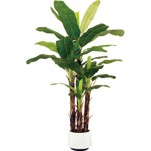China artificial banana tree plant with 1 bunch of banana for Artificial banana leaves decoration