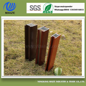 Wood Grain Effect Aluminum Profile Powder Coating with ISO Certification pictures & photos
