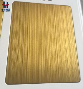Matt Anti-Fingerprint Satin Hairline Stainless Steel Colored Sheets for Interior Decoration pictures & photos