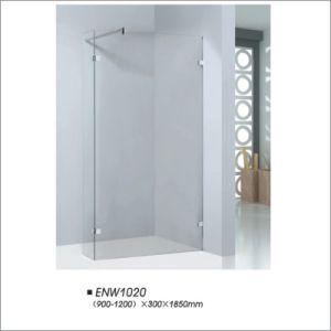Frameless Shower Screen with Adjustable Tempered Glass pictures & photos