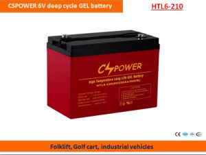 Cspower 6V210ah Deep Cycle Gel Battery for Golf Cart pictures & photos