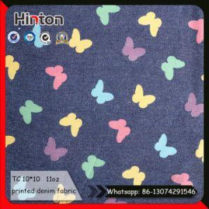 OEM Order Design Printed Denim Fabric for Garment pictures & photos