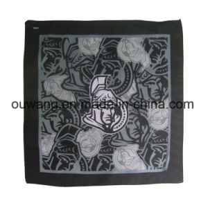 Popular Personalized Cotton Black Handkerchief Paisley Bandana pictures & photos