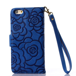 Wholesale Embossing Wallet Leather Cell Phone Cover Case for iPhone 6s pictures & photos