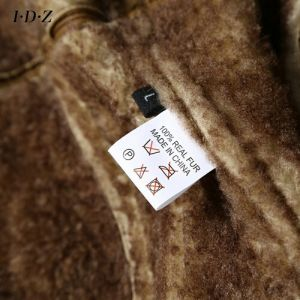 Lady′s Shearing Leather Coat Long Style pictures & photos