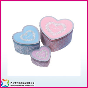 Custom Design Art Paper Empty Heart Shape Gift Box pictures & photos