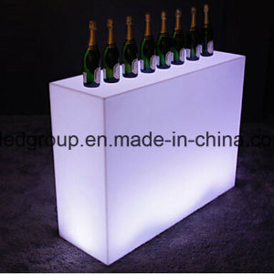 16colors LED Straight Bar Counter Plastic Modern Furniture for Sale