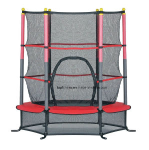 4.5FT Blue/Pink/Green Trampoline Junior Kids Outdoor Activity Fun with Safety Net pictures & photos