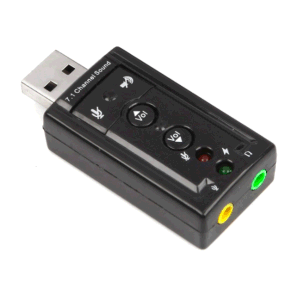 Black USB 7.1 Sound Card with Cm108 Bonding Chip pictures & photos