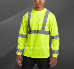 Road Way Traffic Men′s Hi Vis Reflective Long Sleeve Safety Polo Shirt pictures & photos