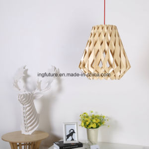 Easy Assembling Creative Wooden Diamond Decoration Pendant Light pictures & photos