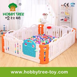 2017 Colorful Indoor Plastic Baby Playard for Family (HBS17041A)