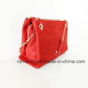 China Supplier Fashion Women Suede Handbags with Chain (NMDK-061402) pictures & photos