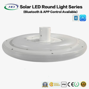 25W LED Solar Round Light with Bluetooth APP pictures & photos