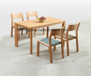 4 Seaters Wood Table Chair Set for Dining (FOH-17R4) pictures & photos