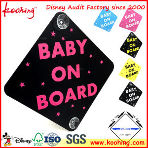 OEM Factory Baby on Board Car Sign Sticker with Suction Cup pictures & photos