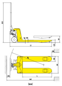 3ton Hand Hydraulic Pallet Truck with Nylon/PU Wheels pictures & photos