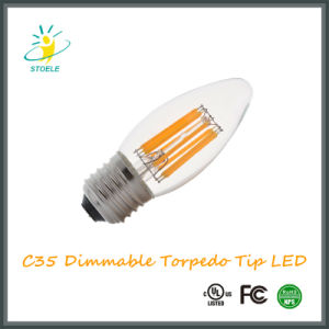LED Candle Bulb C35 6W Energy Saving Torpedo Tip LED Bulb pictures & photos
