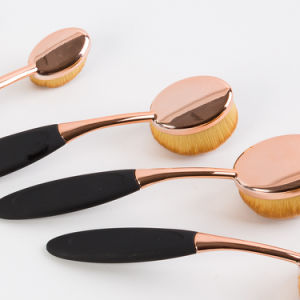 Professional Oval Toothbrush Makeup Brush Set 10PCS for Chirstmas Gift pictures & photos
