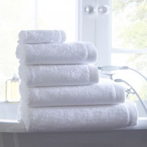 Premium 5piece White Cotton Plain White Hotel Bath Towel Set pictures & photos