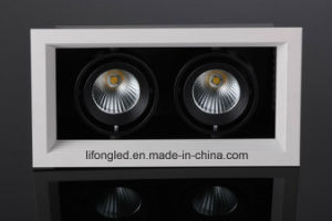 LED COB Simple Grille Light with Two Heads CD101-A1t2 2*7W LED Downlight pictures & photos