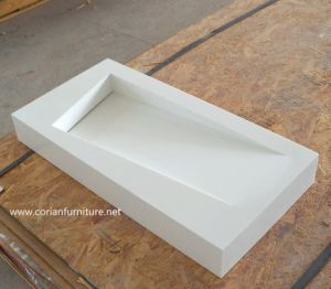 Bathroom Cabinets Design with Corian Solid Surface Basin pictures & photos