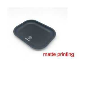 Matte Bright Printing Metal Tin Tray Rolling Smoke Raw pictures & photos