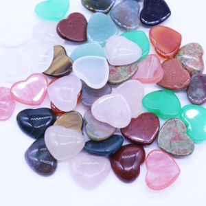 Nature Stone Mixed Color Cabochon 15*18mm Heart Shape Beads pictures & photos