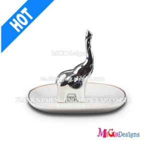 Ceramic Hot Seller Elephant Jewelry Ring Holder pictures & photos