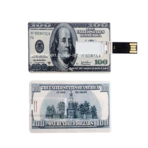 Support Logo Printing Plastic U Disk Credit Card USB Flash Drive pictures & photos