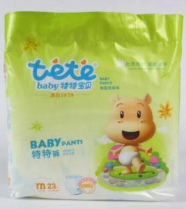 Baby Sanitary Anpkin Disposable Baby Pants Diaper Disposable Baby Diaper pictures & photos