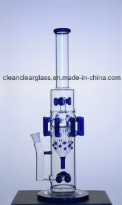 Factory Wholesale New Design Glass Water Pipe Smoking Pipe with Gears Perc