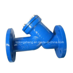 China Manufactory Cast Iron Y-Strainer with Blue Epoxy pictures & photos