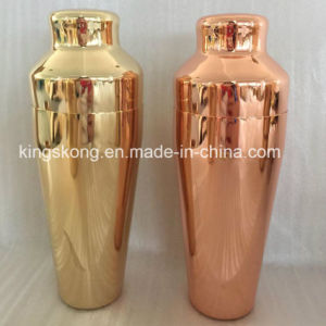 Gold or Copper Colored Drink Japanese Martini Shaker, Metal Cocktail Mixer pictures & photos