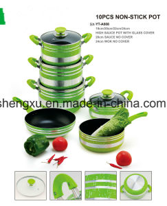 Coated Alloy Aluminium Non-Stick Frying Pan & Pot Stockpot for Cookware Sets Sx-Yt-A008 pictures & photos